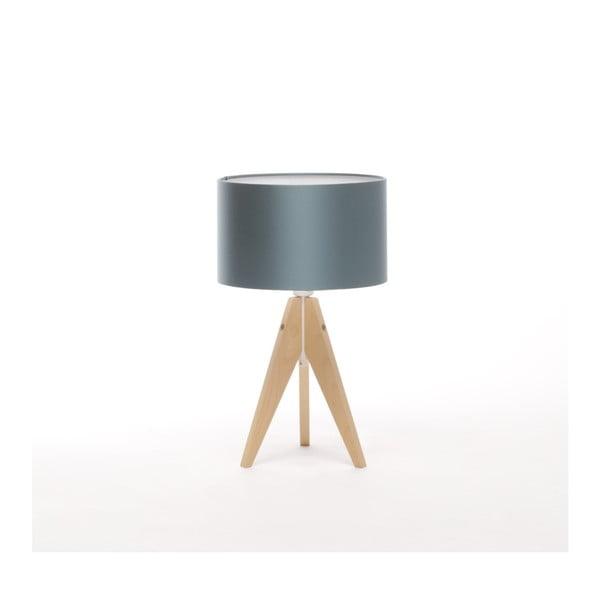 Modrá stolová lampa 4room Artist, breza, Ø 25 cm