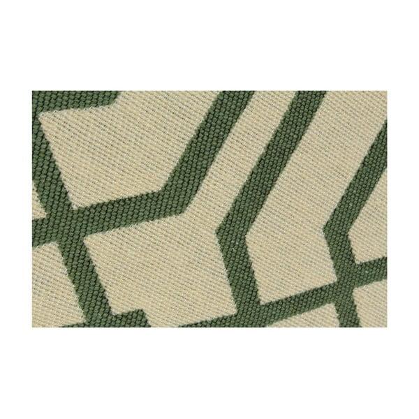 Béžový koberec so zeleným vzorom Ya Rugs Kenar, 60x90cm
