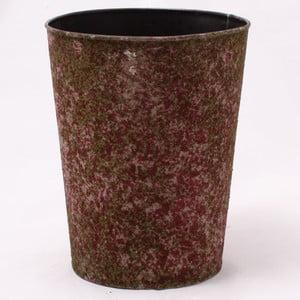 Hnedý plechový obal na kvetináč Dakls