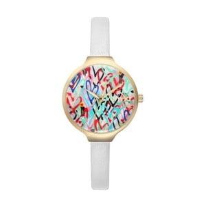 Dámske biele hodinky s koženým remienkom Rumbatime Orchard Love