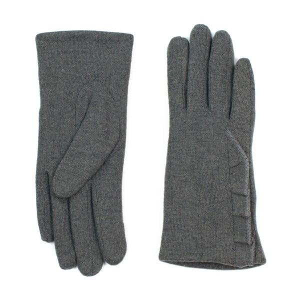 Tmavosivé rukavice Jeanne