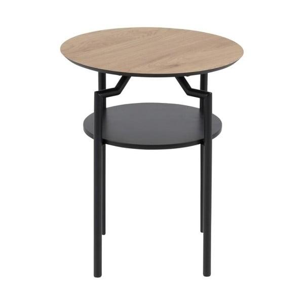Čierno-hnedý odkladací stolík Actona Goldington, ⌀ 45 cm