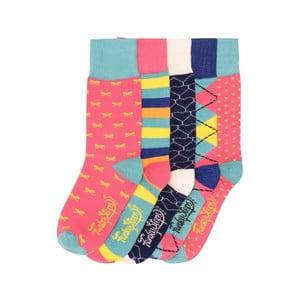 Sada 5 párov farebných ponožiek Funky Steps Color Mist, veľ. 35-39