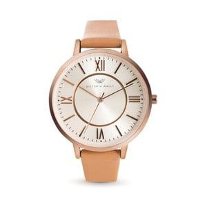 Dámske hodinky so svetlohnedým koženým remienkom Victoria Walls Nuria