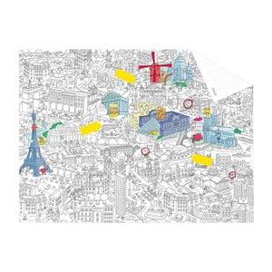 Vrecková omaľovánka mapa Paris