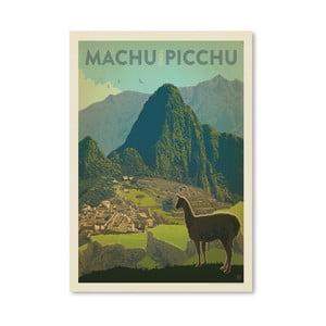 Plagát Americanflat Machu Picchu, 42 x 30 cm