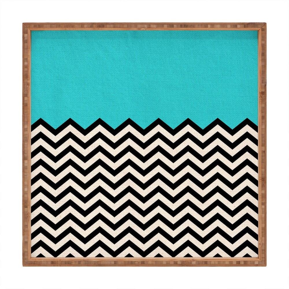 Drevený dekoratívny servírovací podnos Azzure, 40 × 40 cm