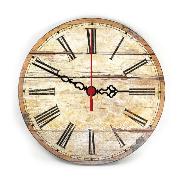 Nástenné hodiny Retro Wood, 30 cm