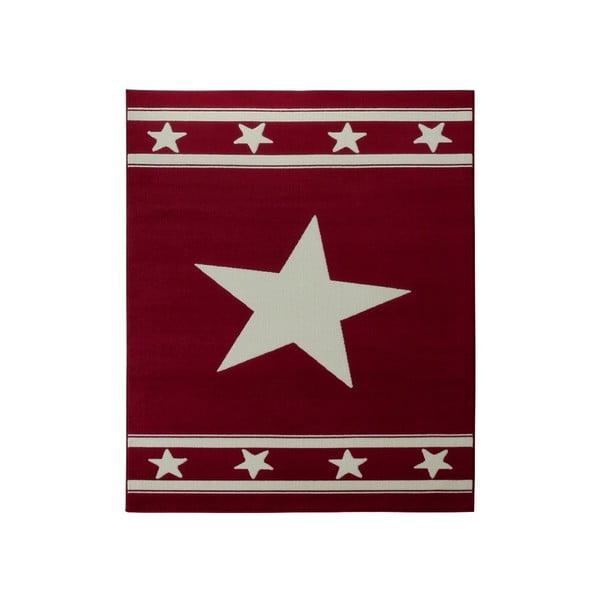 Koberec City & Mix - červená hviezda, 140x200 cm