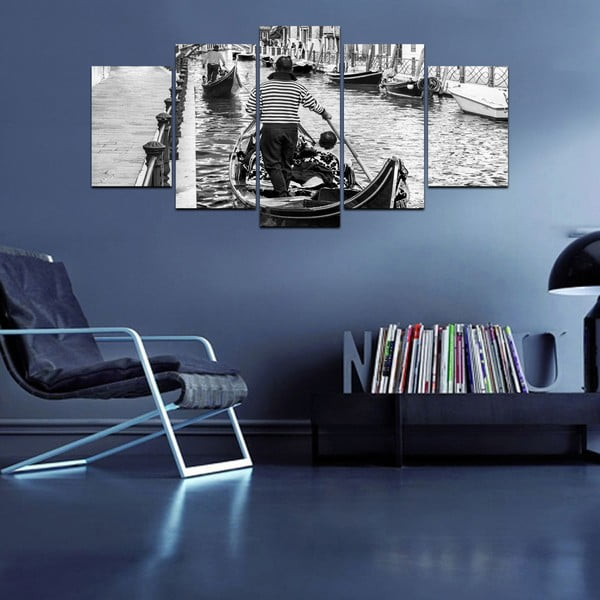 Viacdielny obraz Black&White no. 84, 100x50 cm