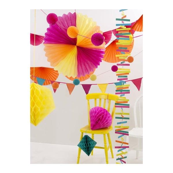 Papierová dekorácia Honeycomb Fiesta