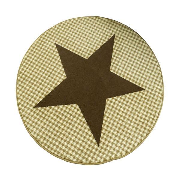 Koberec City & Mix - hnedá hviezda, 140 cm