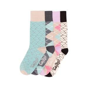 Sada 4 párov farebných ponožiek Funky Steps Rainbow, veľ. 35-39