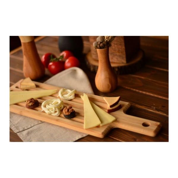 Bambusová servírovacia doštička na steak Bambum Grill, dĺžka 40 cm