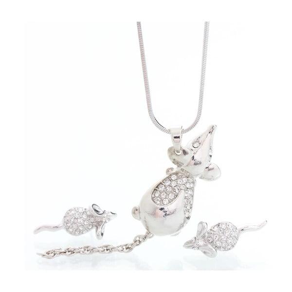Sada náhrdelník a náušnic se Swarovski Elements, myšky