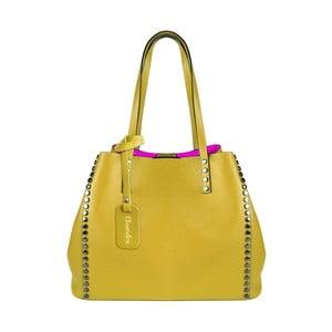 Žltá kožená kabelka Maison Bag Milú
