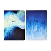 Sada 2 zápisníkov A5 Portico Designs Blue Abstract, 100 strán