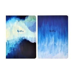 Sada 2 zápisníkov A5 Portico Designs Blue Abstract, 100 stránok