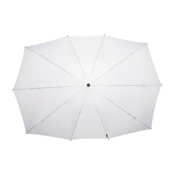 Biely obdĺžnikový dáždnik pre dvoch Ambiance Falconetti tti