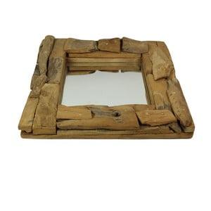 Zrkadlo z teakového dreva HSM Collection Suar