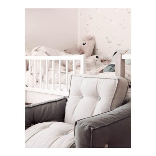 Svetlomodré detské rozkladacie kresielko s prírodnou konštrukciou Karup Mini Dice
