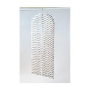 Biely textilný závesný obal na šaty Compactor Clear, 137 cm