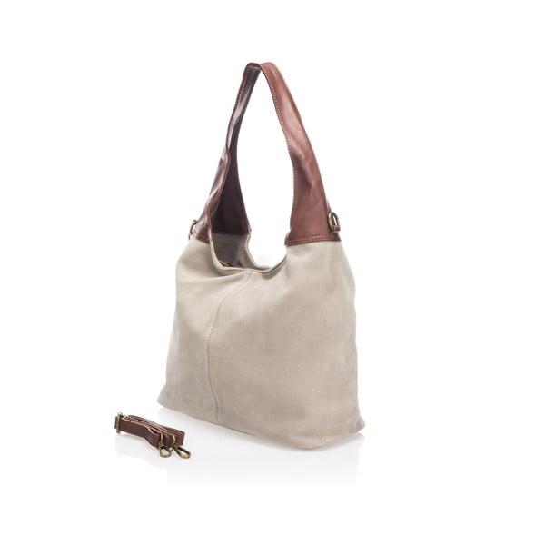 Kožená kabelka Maya, taupe