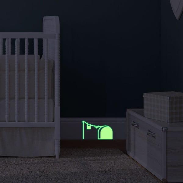 Samolepka svietiaca v tme MaDéco Mouse Hole And Laundry