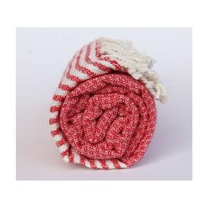 Peshtamal Stripy Red, 100x180 cm