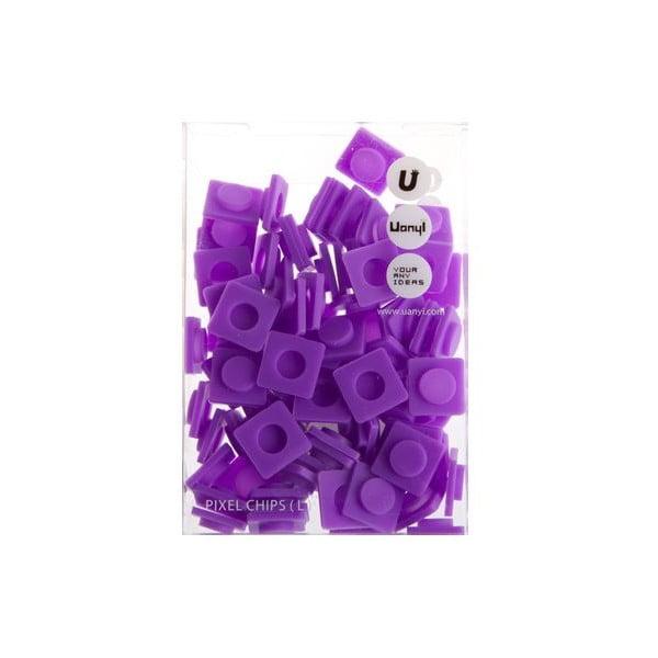 Sada 80 veľkých pixelov, purple