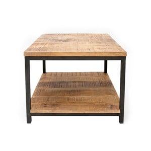 Čierny konferenčný stolík s doskou z mangového dreva LABEL51 Vintage, 60×60 cm