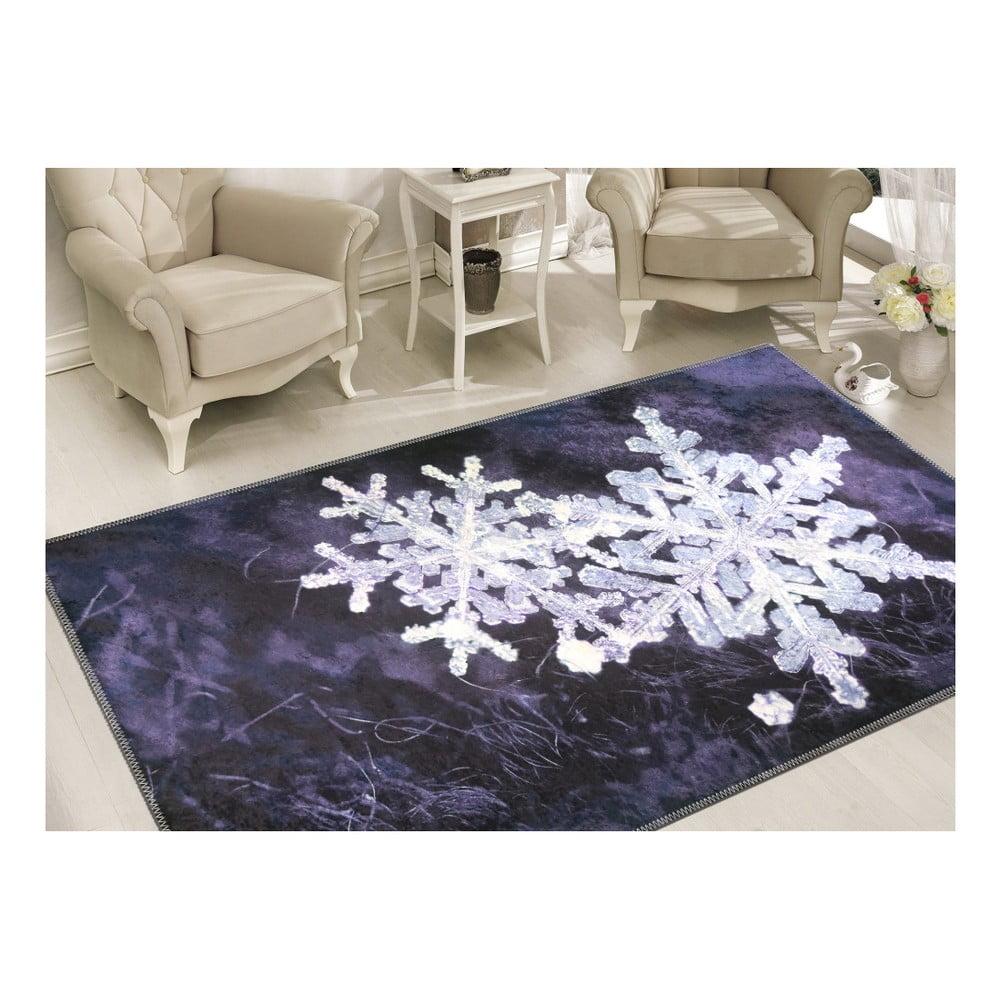 Koberec Vitaus Big Snowflakes, 50 × 80 cm