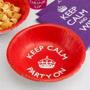 Sada 8 papierových dezertných tanierov Neviti Keep Calm