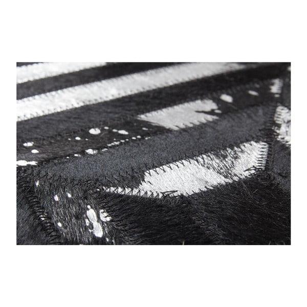 Koberec z pravej kože Dazzle 400 Dark, 160x230 cm