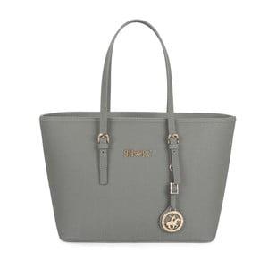 Sivá kabelka z eko kože Beverly Hills Polo Club Anne