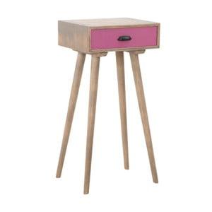 Odkladací stolík s ružovou zásuvkou Mauro Ferretti Ibiza
