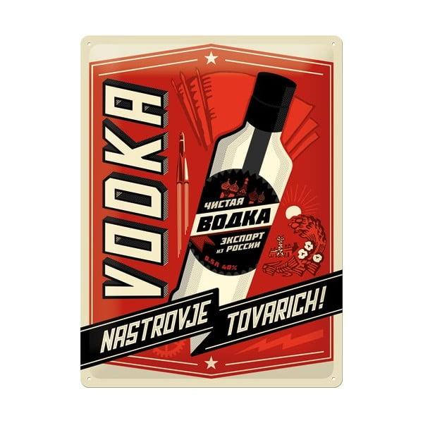 Plechová ceduľa Vodka, 30x40 cm