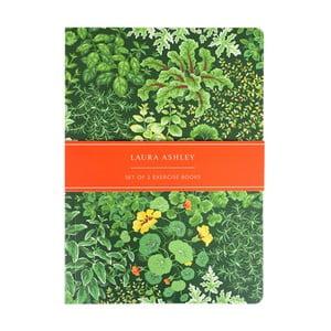 Sada 2 zápisníkov A5 Laura Ashley Living Wall by Portico Designs, 100stránok