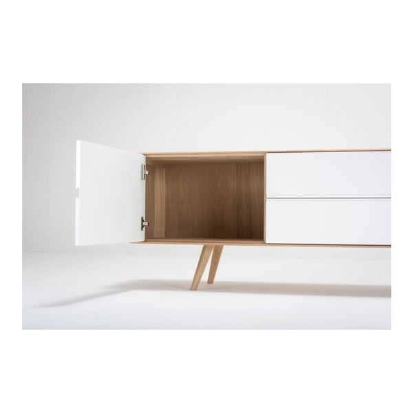 Komoda z dubového dreva Gazzda Ena, 180×42×60 cm