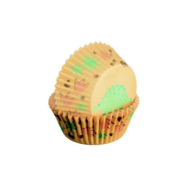 Sada 75 formičiek na cupcakes Dinosaur