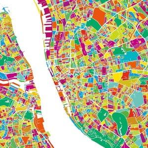 Obraz Homemania Maps Liverpool, 60×60 cm