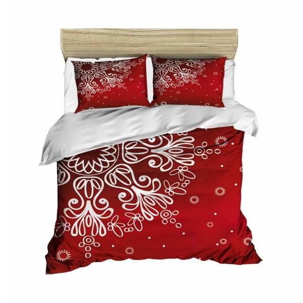 Obliečky na dvojlôžko Red Snow, 200×220 cm