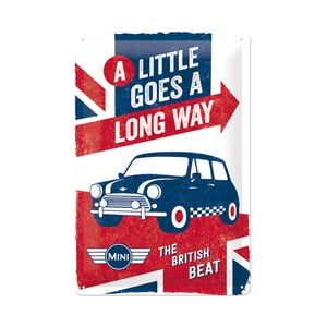 Plechová ceduľa British Mini, 20x30 cm