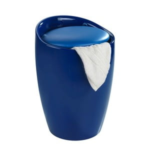 Modrý kôš na prádlo a taburetka v jednom Wenko Candy, 20 l