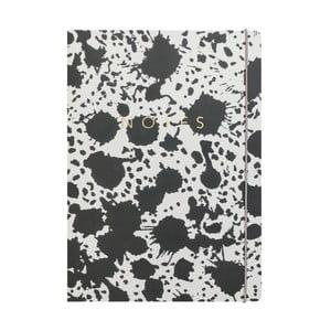 Zápisník A4 Portico Designs Splat, 160 stránok