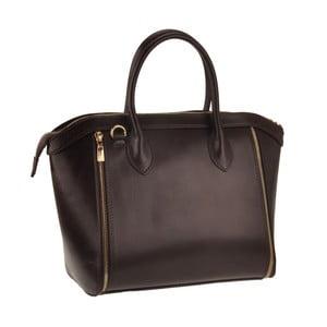 Kožená kabelka Sadira, tm. hnedá