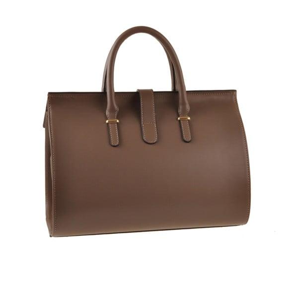 Kožená kabelka Emilio Masi Dabo, hnedá