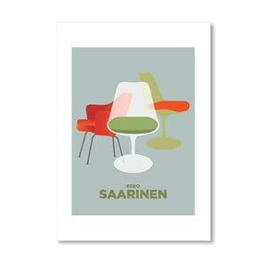 Autorský plagát Saarinen chairs