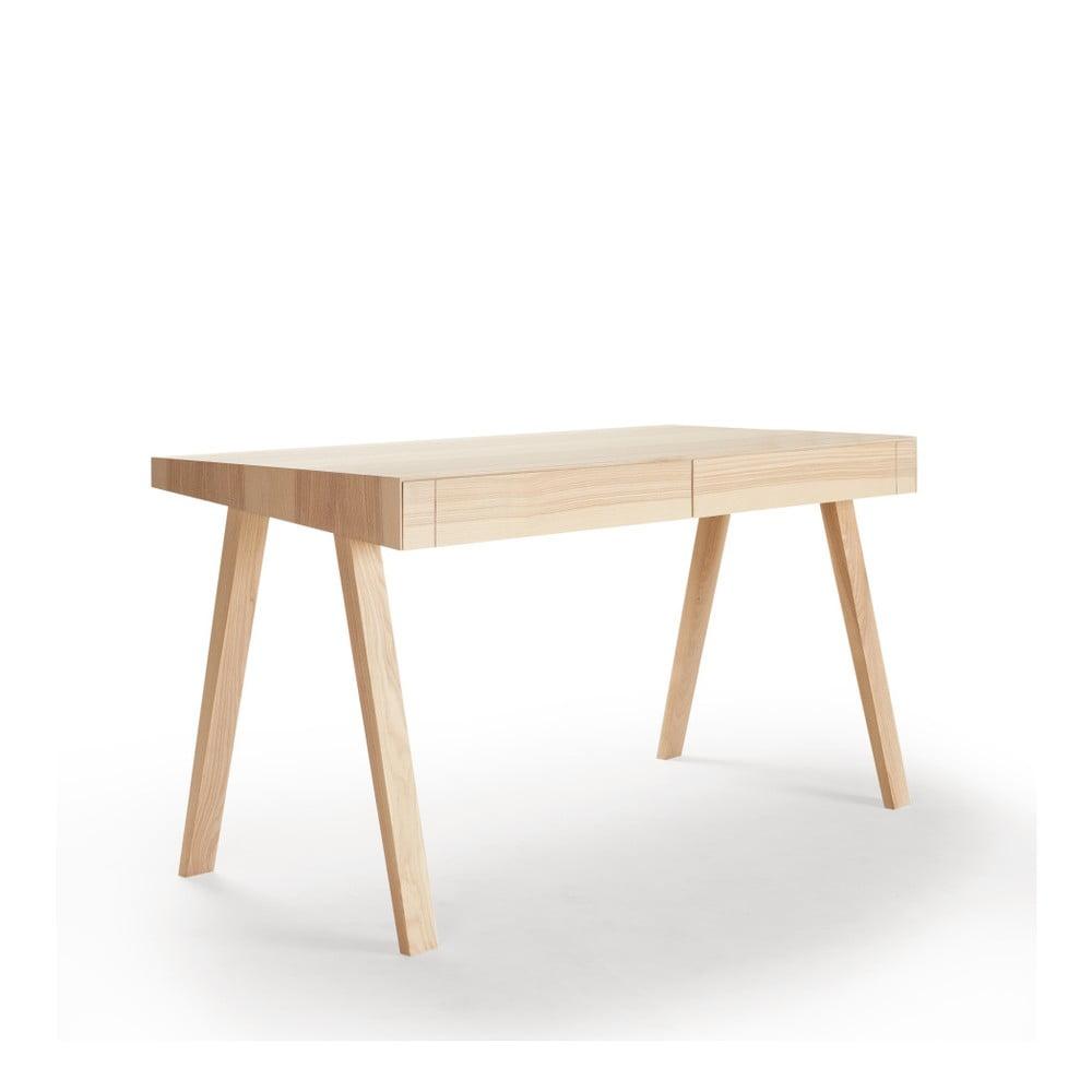 Písací stôl z litovského jaseňa EMKO 4.9, 140 x 70 cm
