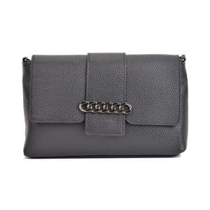 Čierna kožená kabelka Mangotti Bags Baso
